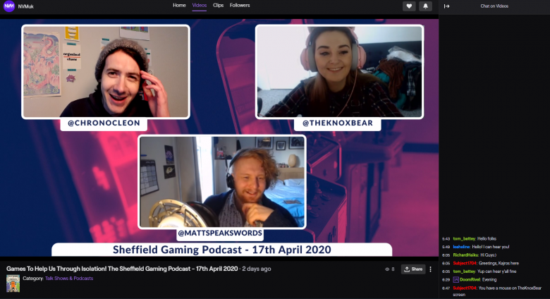 Sheffield Gaming Podcast live on Twitch