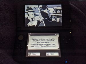 A picture of Nintendo game Shifting World for the 3DS on the console